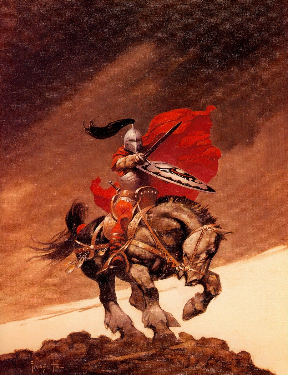 Cover art by J. E. McConnell. The Outlaw of Torn Frazetta cover ...