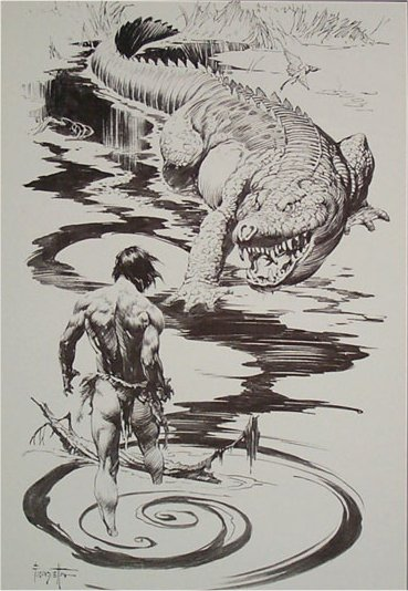 Edgar Rice Burroughs Tarzan Lord Of The Jungle Frank Frazetta Art